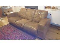 Leather sofa, 3 seater, free