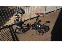 "KwikFold Folding Electric Bike / Bicycle - 16"" wheels - Helmet and Gadget Pouch included!"
