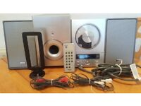 TEAC HI-FI SYSTYEM CD-9X SILVER TONE CD PLAYER RADIO MP3 WITH REMOTE