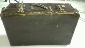 Vintage brown suitcase wedding prop