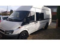 Motorhome, Lwb, high top Diesel Transit