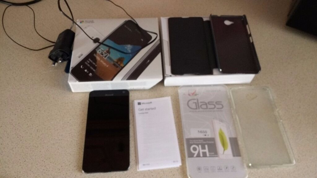 Microsoft Lumia 650 Unlocked 5 inch screenin Ballygowan, County DownGumtree - Microsoft Lumia 650 5 inch screen Unlocked to any network Windows 10 1gb ram Quad core processor 16gb storage Comes boxed with charger Also comes with 2 cases black sparkle nillkin flip case and clear gel one Brand new unused Tempered glass screen...