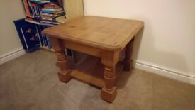 Large Square Pine Coffee Table
