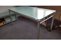 12 Piece Furniture Set in Silver, Chrome and Glass. Lounge Furniture and Dining Table