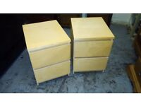 IKEA MALM MATCHING BEDSIDE TABLES /CHESTS IN EXCELLENT CONDITION FREE LOCAL DELIVERY