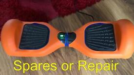 Spares or Repairs - Hover Board with new Orange Cover, carry case and instructions