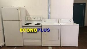 ECONOPLUS LIQUIDATION GRAND CHOIX DE 4 ELECTROMENAGERS DE QUALITE  A PARTIR DE 799.99$ TAXES INCLUSES