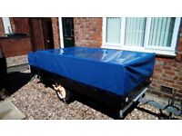 camping trailer 7 x 4 with detachable kitchen