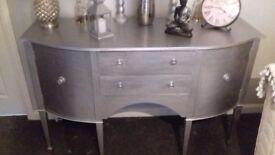 Silver sideboard