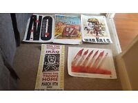 Anti war posters (individually priced)