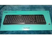 Logitech K360 Wireless Keyboard Black BRAND NEW