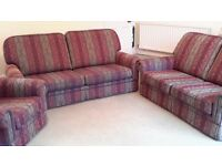 three piece suite. perfect condition.
