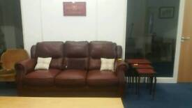 Excellent quality Vintage leather sofa. Very comfortable. Can deliver.