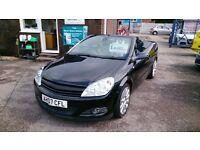 LOW MILEAGE 2007 VAUXHALL ASTRA 1.8 TWIN TOP CONVERTIBLE BLACK MARCH 2017 MOT ONLY 56K WITH F/S/H +