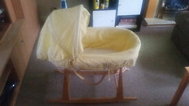 Baby New Born Baby Basket - with mattress