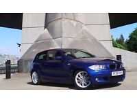 2008 08 BMW 120D M SPORT 2.0 3DR MOT 06/17 BLUE DIESEL(2 YEARS AA WARRANTY)