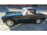 MG Midget 1500 with chrome bumpers. 1975 tax and mot exempt.