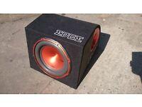 """Edge 900 watt 12"""" bass reflex ported subwoofer"""