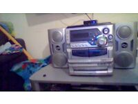 goodmans hi fi 3 cd 2 cassette and radio with remote