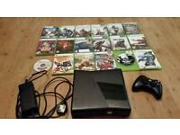 Xbox 360, 250gb with 18 games