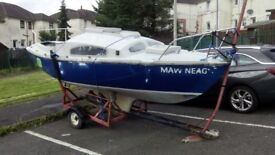 Boat, Yacht for Sale £250 (Incl. Trailer)
