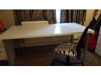 Very good condition table/desk. White. 150x75. Plus FREE Chair.