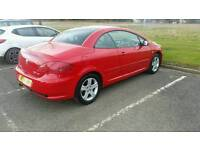 Peugeot 307cc convertible in red, excellent condition may swap or sale for right car
