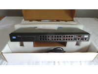 24 Port POE Network Switch + VOIP Phone