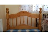 Solid Pine Single Bed Frame