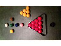 Full set of pool/snooker balls for sale