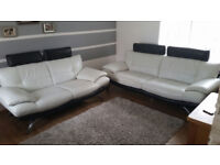 Two Lether Sofas