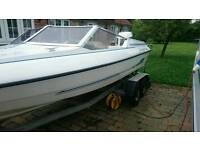 Fletcher Bravo speedboat 150hp VRO Johnson