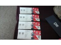 Four Wembley Final Tickets.Rugby League Challenge Cup.