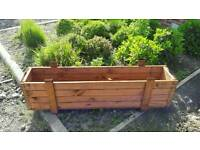 Garden planters wooden packing crates heat treated tubs flowers