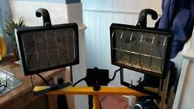 Twin Head Telescopic Floodlight