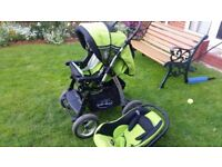 Baby car seat and push chair
