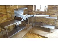 Catering Equipment FOR SALE stainless steel tables and chicken display