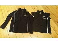 Girls 34/36in Huntington Secondary School PE Tops, Fleece and T-Shirt, only used 2 terms