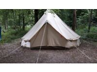 Nearly new 5 metre Sibley Ultimate Pro Canvas Bell Tents (RRP £700)