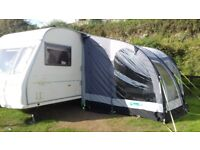 Avondale 510 2004 5 birth caravan fixed bed and kampa air awning