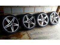 """18"""" OZ Racing Energy alloy wheels tyres 5x112 5x114 Honda Volkswagen Mercedes"""