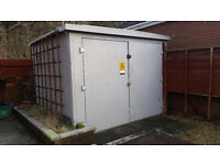 Fibreglass storage unit/container electricity board type. very secure!
