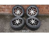 BK Racing BK170 20 inch wheels and Hankook tyres for VW T5/T6 - ALMOST NEW