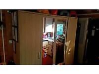 4 door mirrored wardrobe