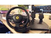 Thrust master 458 Italia. Racing wheel compatible with xbox 360 & PC.