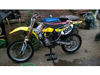 suzuki rm 250 two stroke motocross
