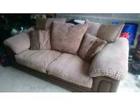 Sofa 2 seats + armchair + 2 x footrests