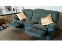 3-seater RECLINER sofa with 2 chairs