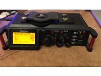 Tascam DR-70D 4-channel Audio SD Recorder- Sound Recordist - DSLR