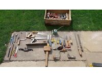 **DAD'S OLD HAND TOOLS**CHISELS**PLANES**SCREWDRIVERS**SAWS**MASONRY BITS**ETC**